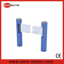 Automatic security stainless steel P-type swing turnstile gate
