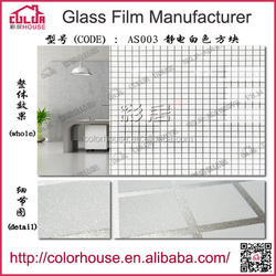 size 0.92m*48m pvc self adhesive white checker static cling window film