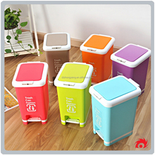 creative plastic home kitchen handle garbage storage box dustbin trash can rubbish pedal bin