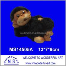 small animal ceramic figurines wholesale/new monkey arts