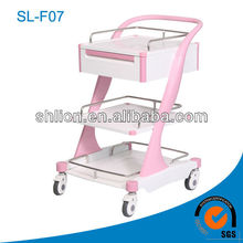 Deluxe ABS Nursing Carts and Trolleys Step Ladder Trolley