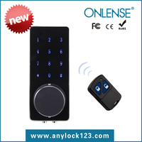 Waterproof biometric digital code door lock handle