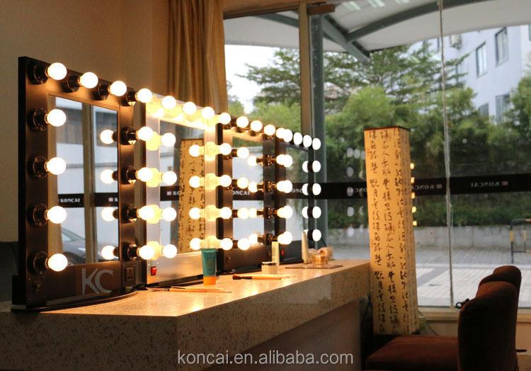Professionele aluminium beauty salon spiegel make up spiegel met verlichting make up spiegel - Spiegel salon ...