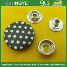hot selling 23mm white dot strong snap button-PA2179