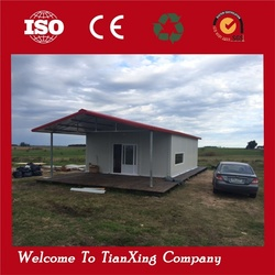 prefabricated easy unloading prefab houses container cabin modular