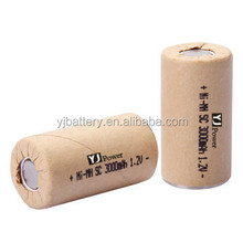 factory wholesale price YJ Ni MH SC 3000mAh 1.2v lithium cylindrical batteries 1.2v aa 3000mah ni-mh rechargeable battery