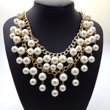 Bankruptcy sisters flower pearl necklace fashion brand necklace for ladies