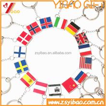 2015 customized country flag metal keychain and Irregular shape key chain