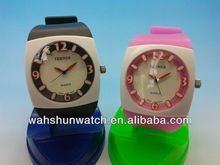 2013 trend design analog digital chronograph lady's silicone wristwatch