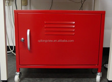 Two Shelf Storage and Filing Metal Mobile Cabine