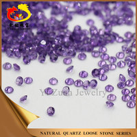 Large store wholesale round shaped diamond cut natural rough stone amethyst