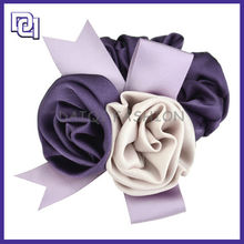 HOT SALE CHINESE CHEAP PURPLE HAIR ACCESSORIES,FEATHER FLOWER FABRIC HAIR ACCESSORIES FOR WOMEN