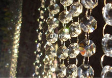 14MM wedding garland crystal prism bead chain, christmas tree crystal strand hung strung