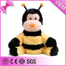 OEM Wholesale microwave fluffy plush bee custom stuffed bumble bee soft toy
