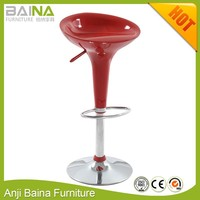Bombo plastic abs bar stool low back
