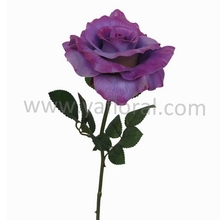 Artificial purple rose real touch flowers for wedding decoration