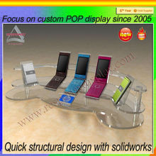 Transparent acylic cell phone kickstand for mobile shop