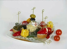 BBQ Tool Factory direct hygeian Shortest Lead Time Premium quality Natural Disposable Bamboo Knotted Skewers for food
