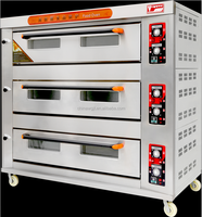 three decks gas bread pizza oven (3 Decks 9 Trays,manufacturer low price)