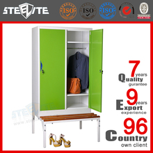 STEELITE furniture 2 door steel clothes bench wardrobe