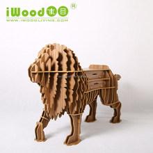 9mm MDF lion animal shape wood ornaments furniture