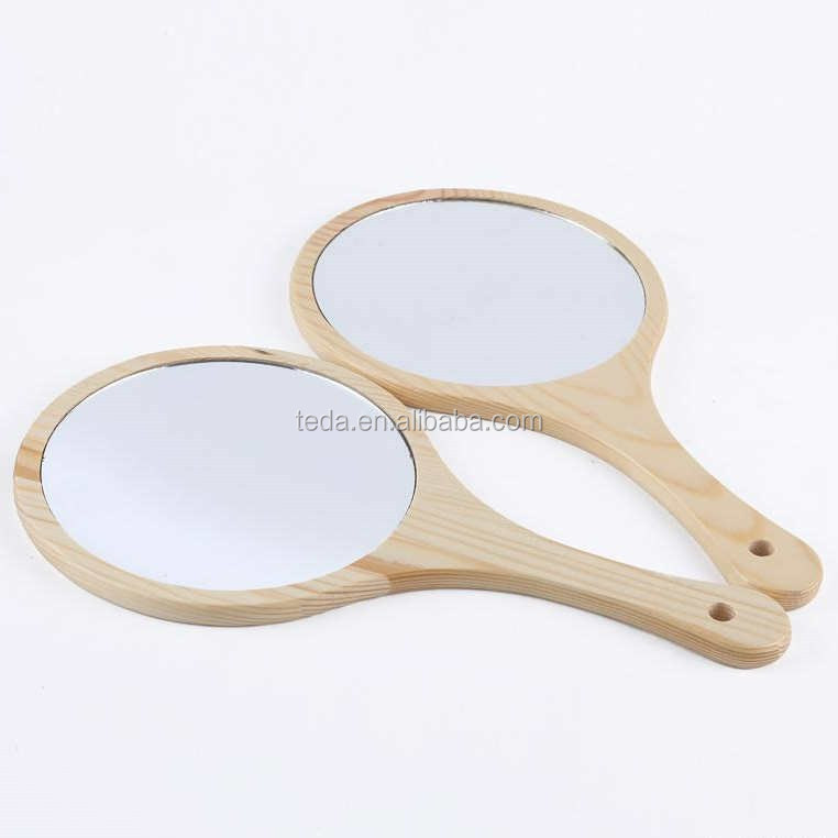 Wooden Frame Handmade Unfinished Wood Mirror (35)