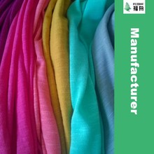 Tubular 100% Cotton Jersey Knit Fabric Slub Yarn Knitted Fabric