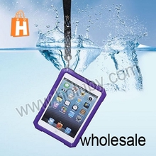 Waterproof:IPX67 ABS Material Snow proof / Dirt-proof / Shockproof / Waterproof Case for iPad mini with 52cm Lanyard