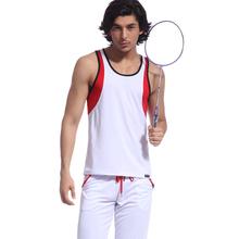 2014 new style 100% polyester sportswear men tank wholesale