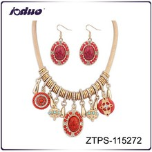 European 2015 top sell red color elegent necklace jewelry