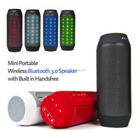 New 2014 Portable Bluetooth Speaker With Led Light Wireless Smart Hands Free Speaker With FM Radio Support SD Card For Iphone