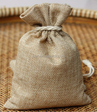 2015 Customized Small Drawstring Jute Gift Hessian Bags/ Burlap Organic bags / Gunny Packing bags