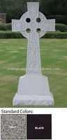 Gray Granite Cheap Memorial Headstones With Celtic Cross Design