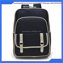 Polyester Material and Big Capacity hiking backpack Black Anime school bags leisure backpack