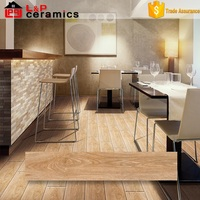 new arrival Foshan factory 150X600 light brown rustic rectified porcelain wood tiles for floor decoration