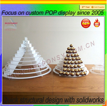 china supplier acrylic display tower cupcake stand for party