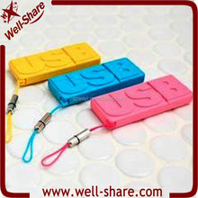 Novelty 4GB Key USB 2.0 Flash Disk with Different Colours from Shenzhen USB Flash Manufacturer