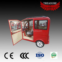 passenger use closed body electric tricycle 48V Velo taxi