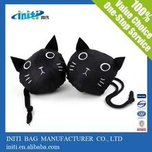 Quality custom prnting fashion designer bag | black cat foldable bag