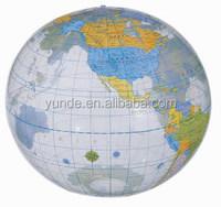 children games standard size PVC beach ball inflatable world map beach ball