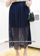 las señoras de largo cordón de cuero 2014 faldas el servicio del oem casual de las señoras falda maxi