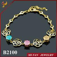 New Products 2015 Charm Bracelet Fashion Gold Bracelet Zircon Jewelry Design