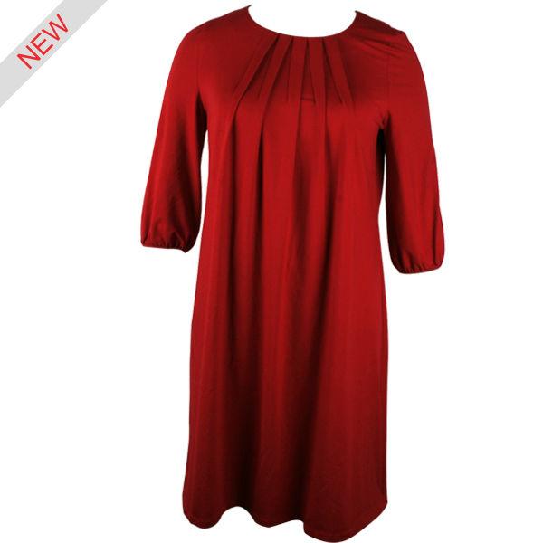 vestido de manga corta damas