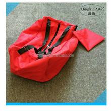 China wholesale duffle bag,plain red foldable travel bag