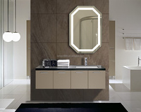 American style frameless mirror mounting hardware, bathroom mirror with led lighted backlit mirror