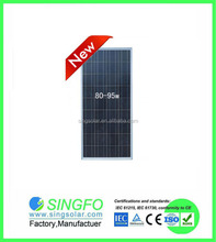 High quality 18V 90W Poly solar panel in China with full certificate SFP9036