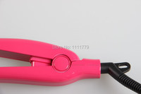 Керамические волос Выпрямитель плоского железа керамические волос Выпрямитель волос стайлер с 40pcs розовый цвет контроля температуры