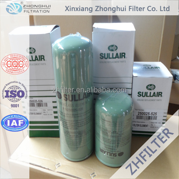 Sullair compressor oil filter element 02250047-808