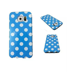 new promotion colorful pc Polka Dot Paint cover case for samsung S6 plastic mobile phone shell