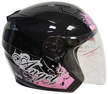 2015 New motorcycle 3/4 open face helmet with visor